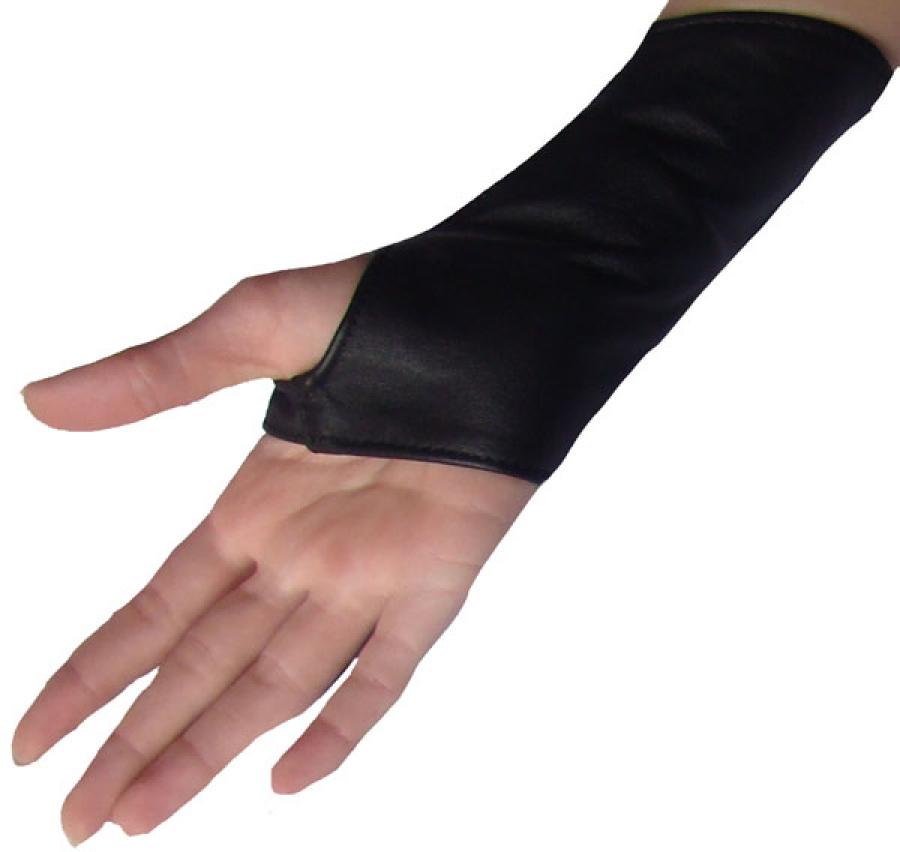 Kurze Nappa Leder Damen Armstulpen Handschuhe fingerfrei mit Reißverschluss Ledapol 5266