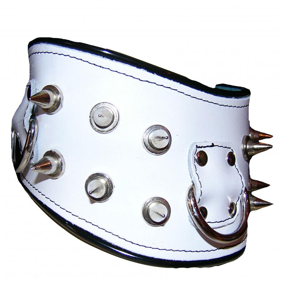 Halsband Hals Manschette Spikes Nieten Metall Leder Ledapol 703