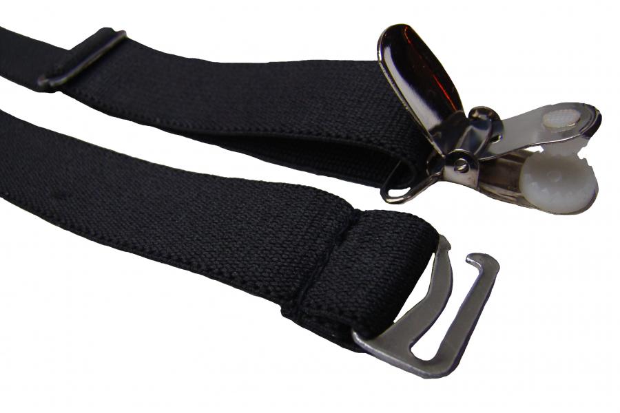 Straps Halter Metall Clipse  1 bis 24 Stück Hosenträger Strumpfhalter zum einhängen an Corsagen Korsetts schwarz Z 004